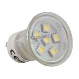 Żarówka LED MR11 GU10 6 LED SMD 5050 230 V biała zimna