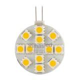 Żarówka LED G4 12 LED SMD 5050 12 V 28 mm biała ciepła