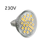 Żarówka LED GU5,3 24 LED SMD 5050 230 V biała ciepła