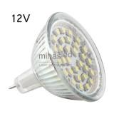 Żarówka LED GU5,3 30 LED SMD 3528 12 V biała ciepła