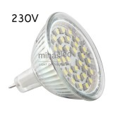 Żarówka LED GU5,3 30 LED SMD 3528 230 V biała ciepła