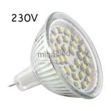 Żarówka LED GU5,3 30 LED SMD 3528 230 V biała zimna