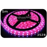 Taśma LED 5m 60led/m SMD 3528 różowy