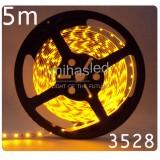 Taśma LED 5m 60led/m SMD 3528 żółty
