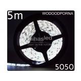 Taśma LED 5m  30led/m SMD 5050 biały zimny, wodoodporna, SUPER JASNA
