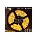 Taśma LED 5m 60led/m SMD 3528 biały ciepły, wodoodporna