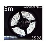Taśma LED 5m 60led/m SMD 3528 biały zimny, wodoodporna