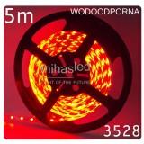 Taśma LED 5m 60led/m SMD 3528 czerwona, wodoodporna