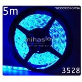Taśma LED 5m 60led/m SMD 3528 niebieski, wodoodporna