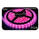 Taśma LED 5m 60led/m SMD 3528 różowy, wodoodporna