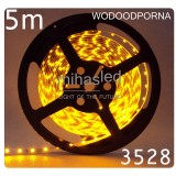 Taśma LED 5m 60led/m SMD 3528 żółty, wodoodporna
